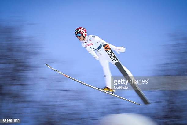 Ryoyu Kobayashi competes during the men's ski jumping World Cup in Wisla Poland on January 14 2017