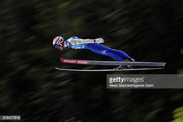 Ryoyu Kobayashi of Japan competes during the qualifications of the FIS Grand Prix Ski Jumping 2016 on July 15 2016 in Courchevel France
