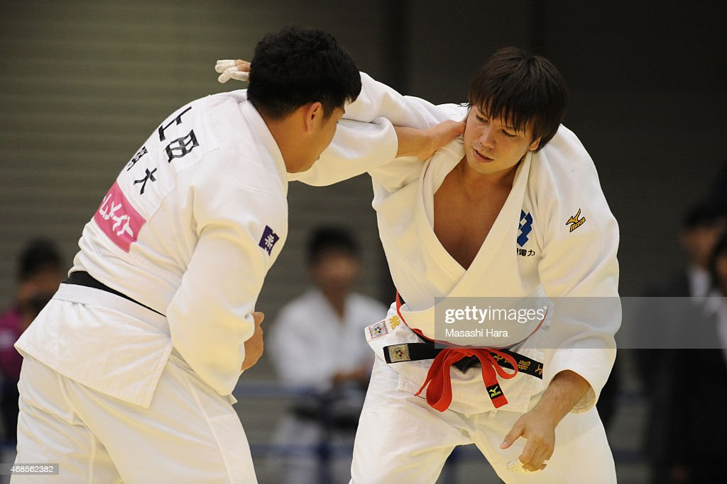 <a gi-track='captionPersonalityLinkClicked' href=/galleries/search?phrase=Ryu+Shichinohe&family=editorial&specificpeople=9207686 ng-click='$event.stopPropagation()'>Ryu Shichinohe</a> looks on during day one of the All Japan Judo Championships by Weight Category 2015 at Fukuoka Kokusai Center on April 4, 2015 in Fukuoka, Japan.
