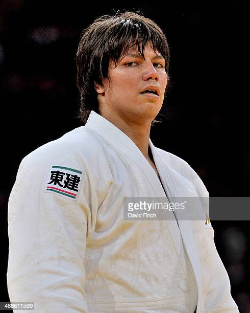 Ryu Shichinohe of Japan reached the o100kg final and the gold medal after defeating the favourite Oscar Brayson of Cuba during the Paris Grand Slam...