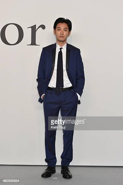 Ryuhei Matsuda attends 'Esprit Dior' Tokyo 2015 Fashion Show at Ryogoku Kokugikan on December 11 2014 in Tokyo Japan