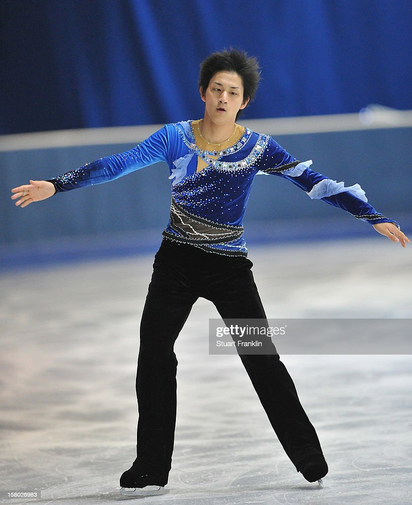 Ryuichi Kihara of Japan in action during the senior mens freestyle section of the NRW trophy at Eissportzentrum on December 9, 2012 in Dortmund, Germany.