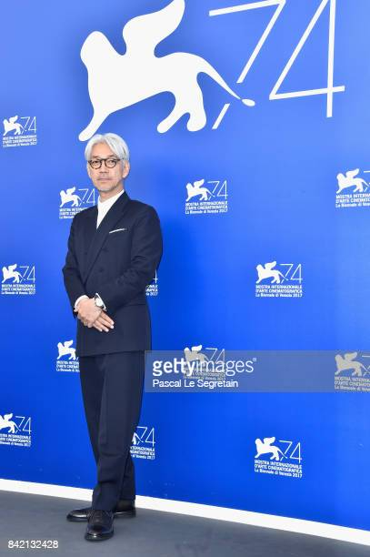 Ryuichi Sakamoto attends the 'Ryuichi Sakamoto Coda' photocall during the 74th Venice Film Festival at Sala Casino on September 3 2017 in Venice Italy