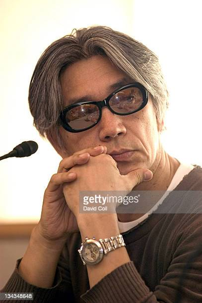 Ryuichi Sakamoto during INSEN Press Conference at Sonar Festival 2006 with Ryuchi Sakamoto and Alva Noto at Sala Polivalent in Barcelona Barcelona...
