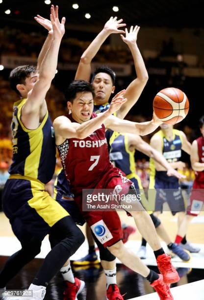 Ryusei Shinoyama of Kawasaki Brave Thunders in action during the B League Championship final match between Kawasaki Brave Thunders and Tochigi Brex...