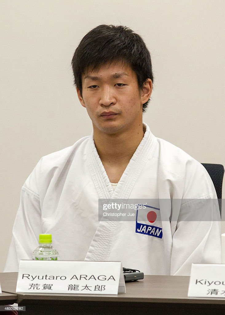 <a gi-track='captionPersonalityLinkClicked' href=/galleries/search?phrase=Ryutaro+Araga&family=editorial&specificpeople=7361550 ng-click='$event.stopPropagation()'>Ryutaro Araga</a> Athlete of World Karate Federation (WKF) gives a presentation during the interview session on August 7, 2015 in Tokyo, Japan. The delegates from the eight shortlisted international federations -Baseball/Softball (WBSC), Bowling (WB), Karate (WKF), Roller Sports (FIRS), Sport Climbing (IFSC), Squash (WSF), Surfing (ISA), Wushu (IWUF) - were interviewed to be considered for inclusion at the Tokyo 2020 Olympic Games. Tokyo's final choice of events to be proposed to the IOC will be made by September 30, 2015.