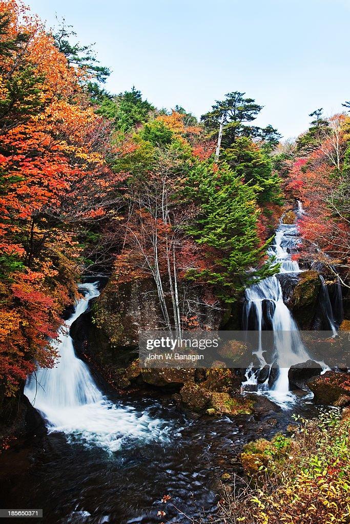 Ryuzu Falls,  autumn, Japan