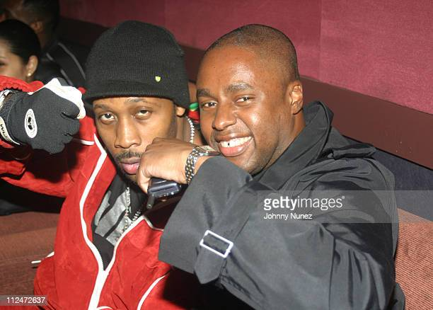 Rza and Claude Grunitzky of Trace Magazine during Rza and Trace Magazine Host 'Kill Bill Vol 2' Private Screening at Tribeca Screening Room in New...
