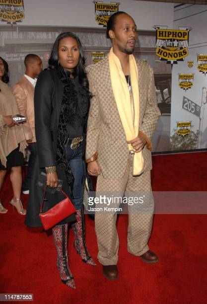 Rza of WuTang Clan and guest during 2006 VH1 Hip Hop Honors Arrivals at Hammerstein Ballroom in New York City New York United States