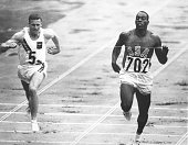WINS HIS HEAT IN THE MEN's 100 METRES AT THE OLYMPIC GAMES IN TOKYO Mandatory Credit Allsport Hulton/Archive