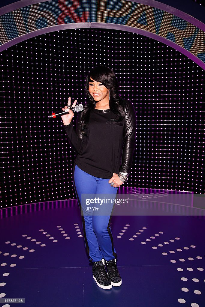 BET's '106 & Park' host Paigion poses on set at BET Studios on May 1, 2013 in New York City.