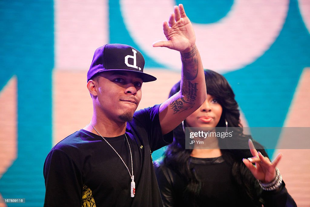 BET's '106 & Park' hosts <a gi-track='captionPersonalityLinkClicked' href=/galleries/search?phrase=Bow+Wow+-+Rapper&family=editorial&specificpeople=211211 ng-click='$event.stopPropagation()'>Bow Wow</a> (L) and Paigion (R) greet the audience at BET Studios on May 1, 2013 in New York City.