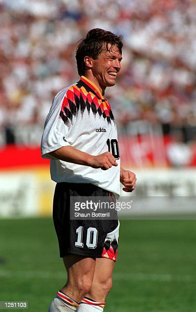 GERMANY's 11 DRAW WITH SPAIN IN THE 1994 WORLD CUP AT SOLDIER FIELD IN CHICAGO Mandatory Credit Shaun Botterill/ALLSPORT
