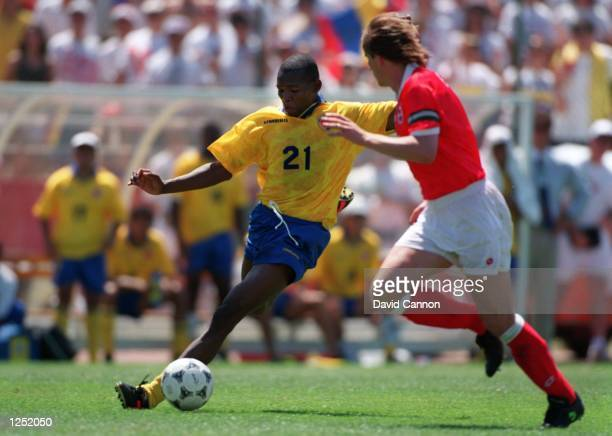 COLOMBIA's 20 VICTORY OVER SWITZERLAND IN A 1994 WORLD CUP GAME AT STANFORD STADIUM IN PALO ALTO CALIFORNIA Mandatory Credit David Cannon/ALLSPORT