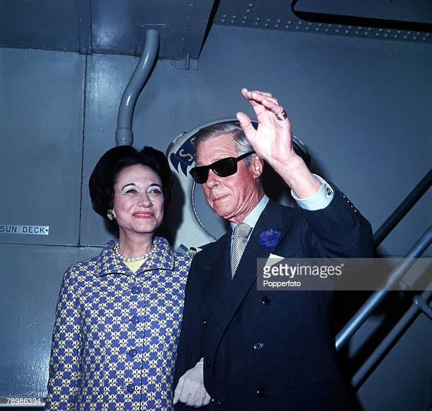 1960's A picture of the Duke and Duchess of Windsor formerly King Edward VIII and Wallis Simpson on board the liner United States
