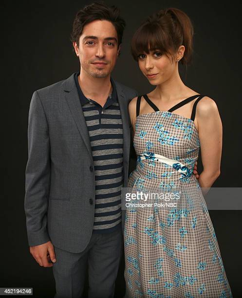 NBC's 'A to Z' actors Ben Feldman and Cristin Milioti pose for a portrait during the NBCUniversal Press Tour at the Beverly Hilton on July 13 2014 in...