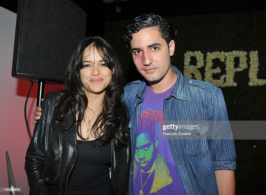 DJ's actress Michelle Rodriguez (L) and Julio Santo Domingo attend the Replay Party during the 63rd Annual Cannes Film Festival at the Star Style Lounge on May 19, 2010 in Cannes, France.
