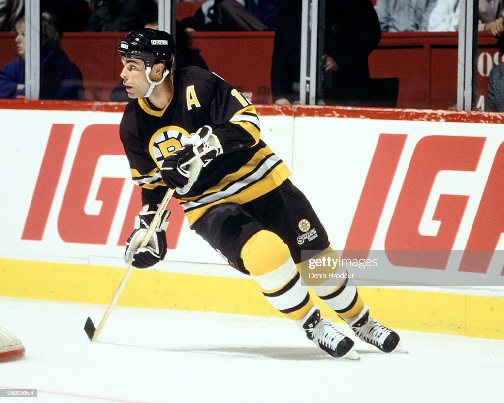 MONTREAL 1990's Adam Oates of the Boston Bruins skates against the Montreal Canadiens in the early 1990's at the Montreal Forum in Montreal Quebec...