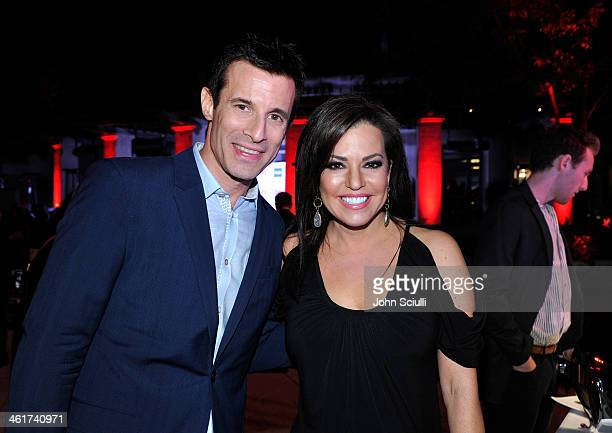 CNN's AJ Hammer and Robin Meade attend the 2014 TCA Winter Press Tour CNN AfterParty on January 10 2014 in Pasadena California