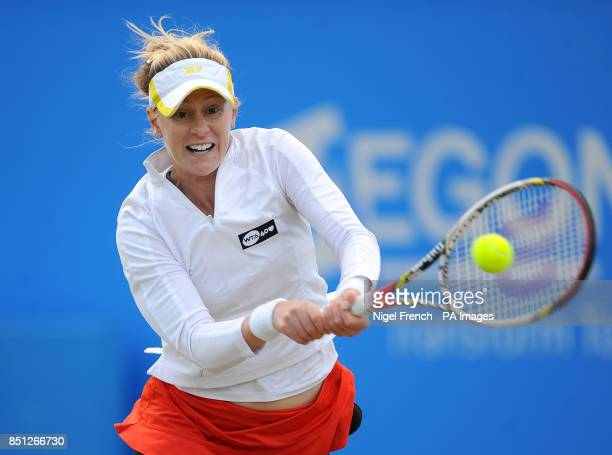USA's Alison Riscke during her semi final against Slovakia's Daniele Hantuchova during the AEGON Classic at Edgbaston Priory Birmingham