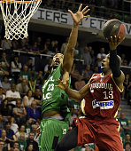 ASVEL's American point small forward David Lighty vies with SIG's American point guard Louis Campbell during the Pro A Basketball game 4 of the final...