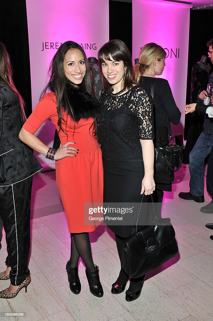 PR's Amy Burstyn-Fritz and Laura DeCarufel attend the Holt Renfrew opening night party on March 18, 2013 in Toronto, Canada.