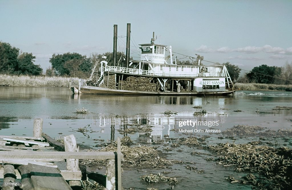 MID 1930's An old southern paddle steamer still works the river circa mid 1930's in the deep south