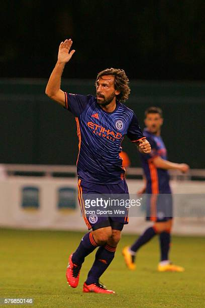 FC's Andrea Pirlo during the preseason MLS match between the New York City FC and the Montreal Impact at Florida Citrus Bowl Stadium in St Petersburg...