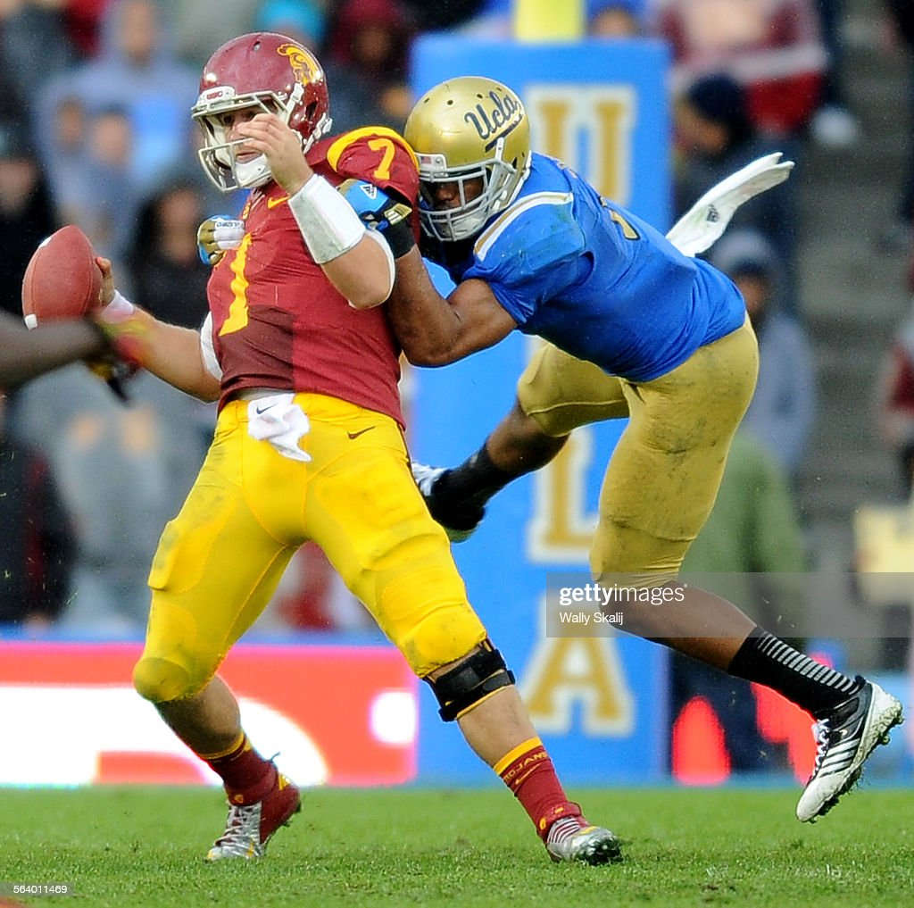 UCLA s Anthony Barr sacks USC quarterback Matt Barkley in the 4th