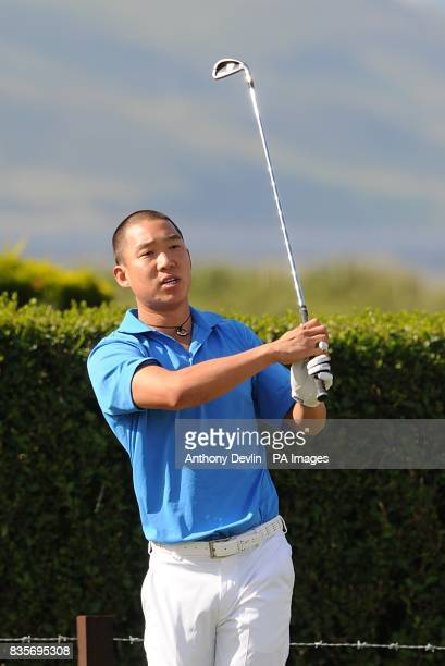 USA's Anthony Kim in action during practice day three at Turnberry Golf Club