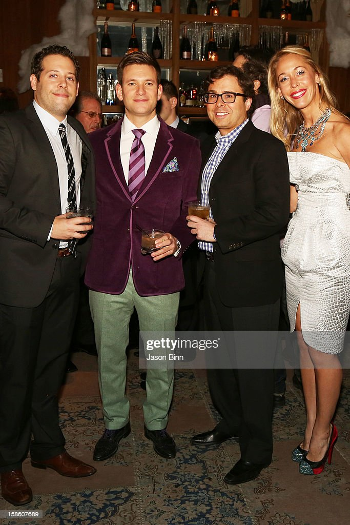 TOWN's Anthony Serino, Ari LeFauve, Rock & Plank Stone Group principal Jamie Cymbrowitz, TOWN SVP Marketing Nicole Oge attend TOWN Residential's holiday party in celebration of its two year anniversary at the Dream Downtown on December 10, 2012 in New York City.