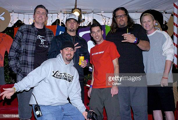 KROQ's Bean and Kevin with Pennywise during KROQ 1067 FM Almost Acoustic Christmas Day 1 Backstage at Universal Amphitheatre in Universal California...