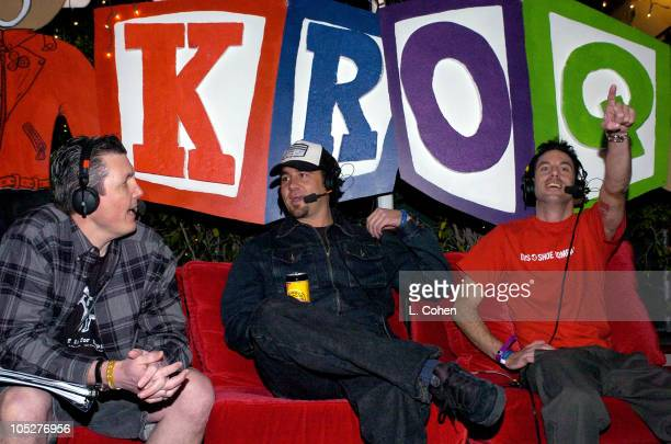 KROQ's Bean with Pennywise during KROQ 1067 FM Almost Acoustic Christmas Day 1 Backstage at Universal Amphitheatre in Universal California United...
