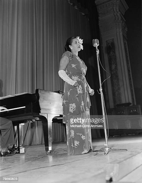MID 1940's Billie Holiday performs on stage in the mid 1940's in New York City New York