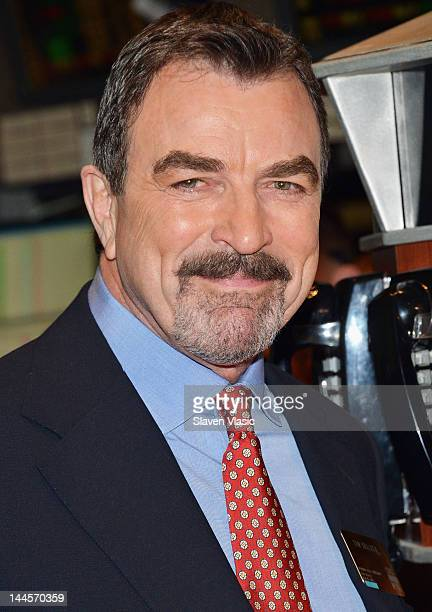 CBS's 'Blue Bloods' cast member Tom Selleck visits the New York Stock Exchange on May 16 2012 in New York City