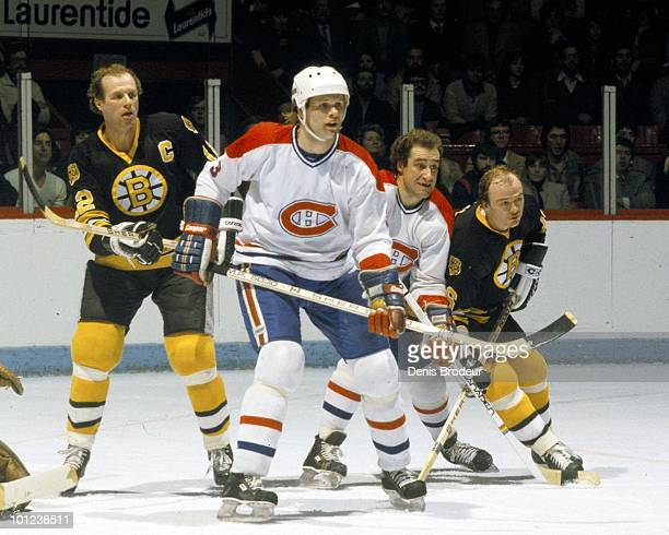 MONTREAL 1970's Brian Engblom of the Montreal Canadiens skates in the 1970's at the Montreal Forum in Montreal Quebec Canada Engblom played for the...