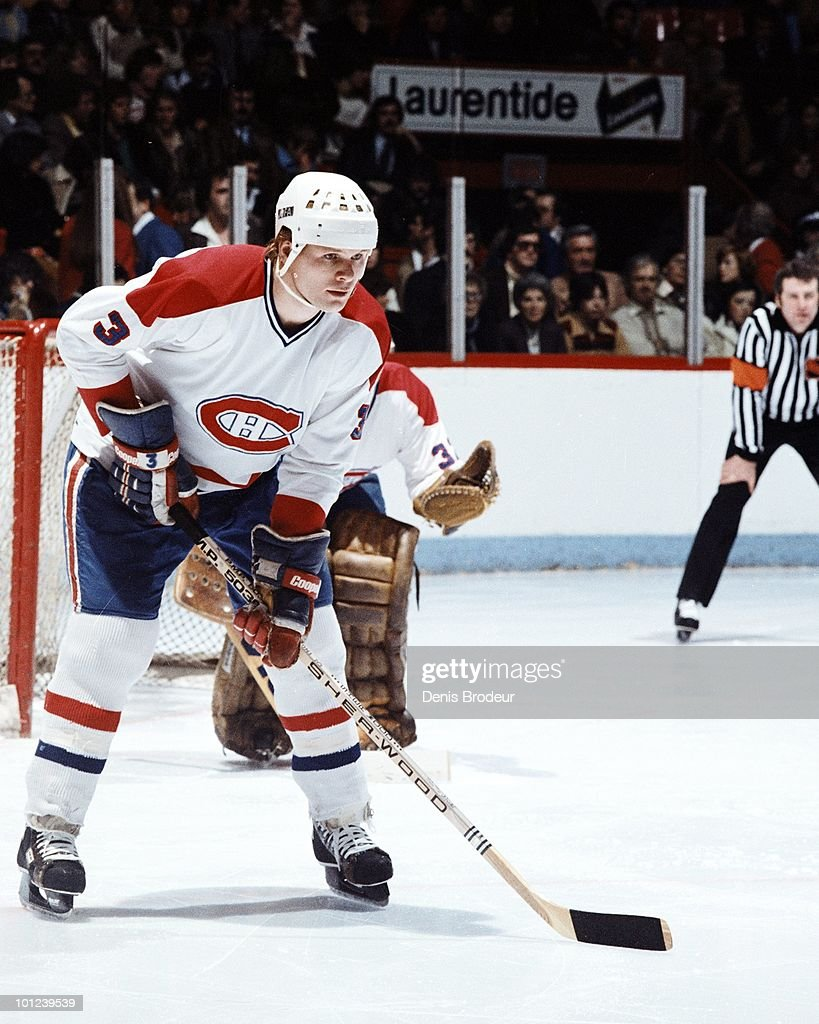 MONTREAL - 1970's: Brian Engblom #3 of the Montreal Canadiens skates in the 1980's at the Montreal Forum in Montreal, Quebec, Canada. Engblom played for the Canadiens from 1976-1982.