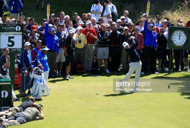 USA's Brooks Koepka during practice day three of the 2014 Open Championship at Royal Liverpool Golf Club Hoylake