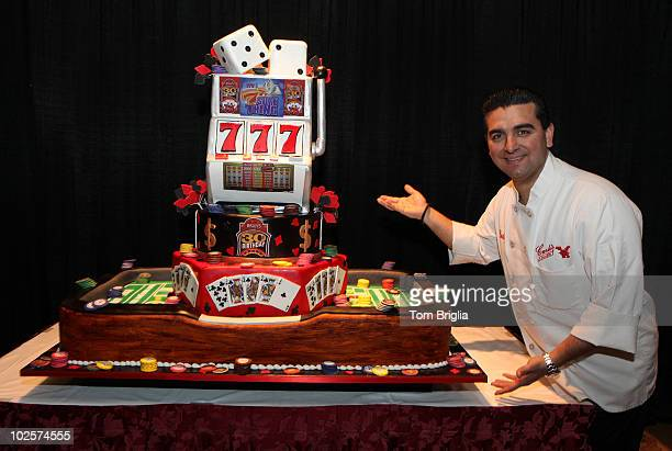 TLC's 'Cake Boss' Buddy Valastro shows off the cake he made for Bally's 30th Birthday at Bally's Atlantic City on Saturday March 27 2010 in Atlantic...