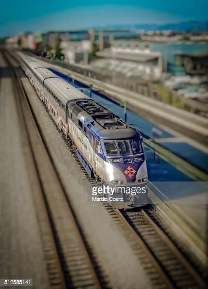 AMTRAK's California Zephyr train arrives in Emeryville from Chicago