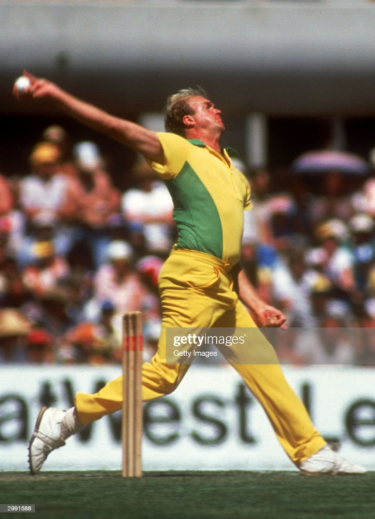 AUSTRALIA 1980's Carl Rackemann of Australia in action during a One Day International cricket match held in Australia during the 1980's