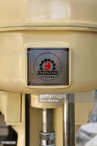 A 1960's Carpigiani SED 12 Batch Freezer on display at the Carpigiani Gelato Museum on March 28 2017 in Bologna Italy Italian brothers Bruto and...