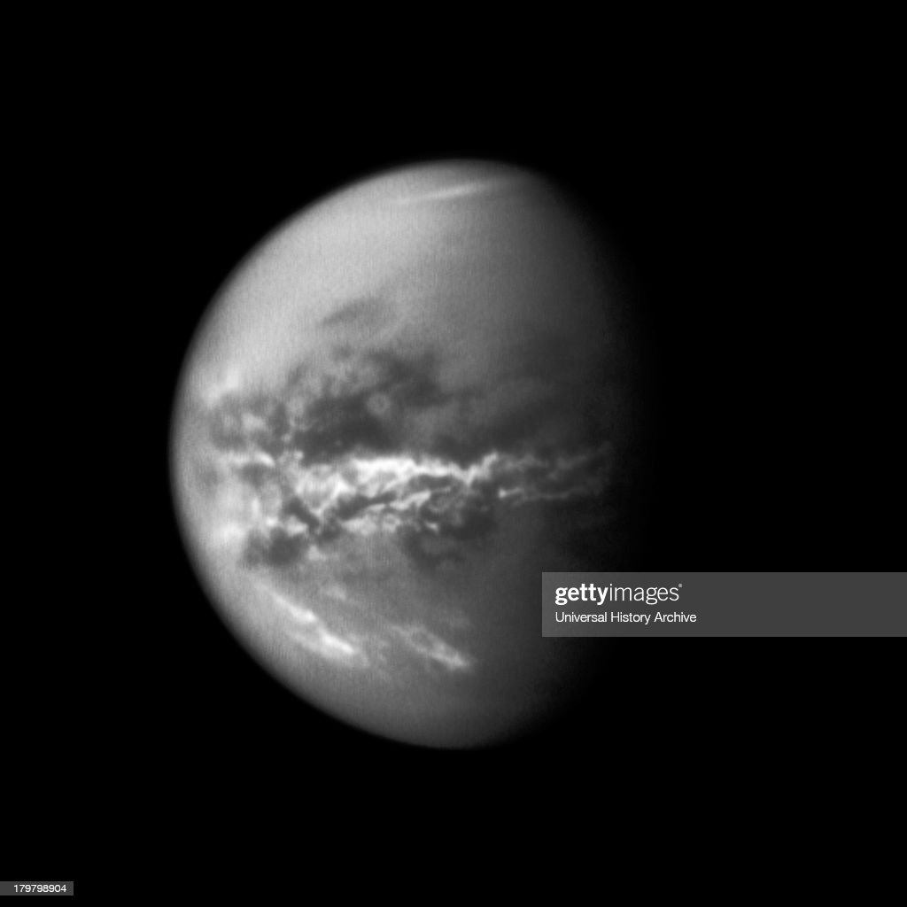 NASA's Cassini spacecraft chronicles the change of seasons as it captures clouds concentrated near the equator of Saturn's largest moon Titan