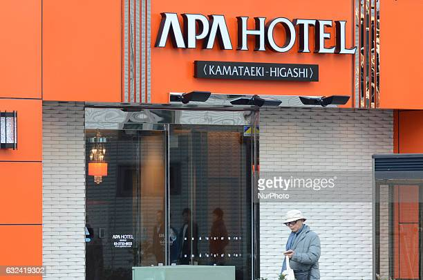 APA's chain hotel is pictured in Tokyo Japan January 22 2017 The Japanese hotel chain Apa Hotels amp Resorts under fire for book denying 1937 Nanjing...