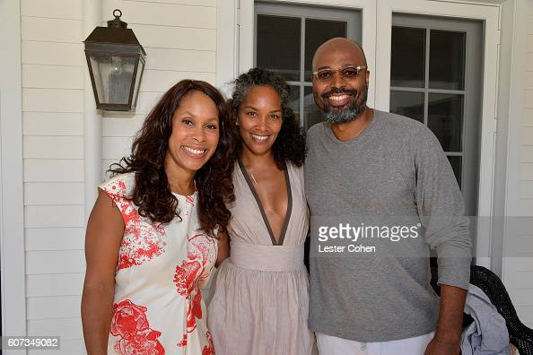 ABC's Channing Dungey writer Mara Brock Akil and director Salim Akil at the ICM Partners PreEmmy Brunch on September 17 2016 in Santa Monica...