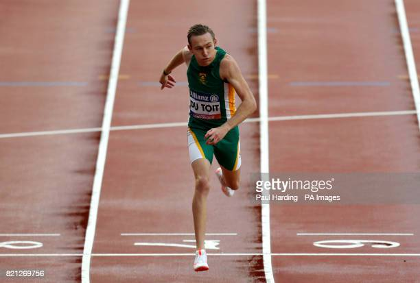 RSA's Charl Du Toit wins the Men's 400m T37 Final during day ten of the 2017 World Para Athletics Championships at London Stadium