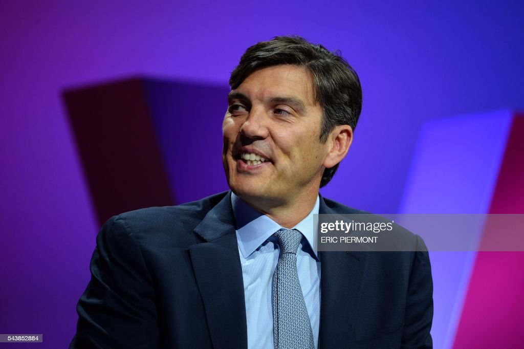AOL's Chief Executive Officer (CEO) Tim Armstrong attends a session during the first edition of the Viva technology event in Paris on June 30, 2016. The show, entitled 'Viva Technology puts France at the heart of the digital world', takes place from June 30 to July 2, 2016. / AFP / ERIC