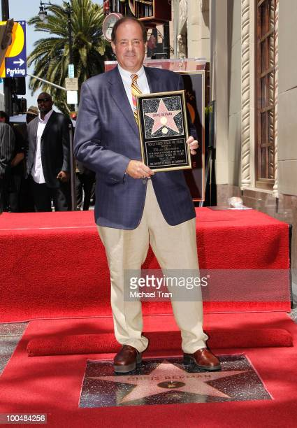 ESPN's Chris Berman attend the ceremony honoring him with a star on The Hollywood Walk Of Fame held on May 24 2010 in Hollywood California