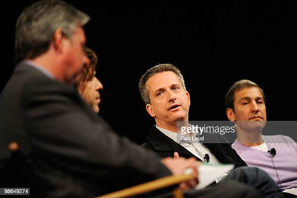 ESPN's Chris Connelly writer/director Brett Morgen Writer Bill Simmons and director/producer Mike Tollin speak at the panel and screening of 'Beyond...