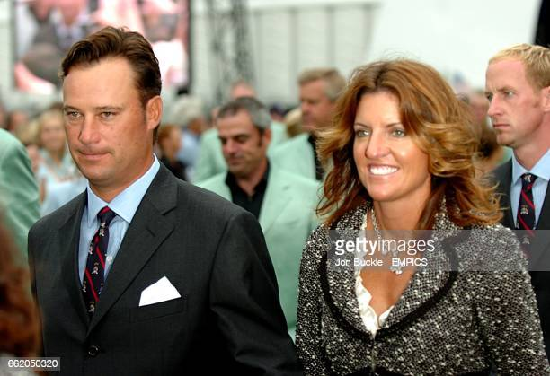 USA's Chris DiMarco and wife Amy at the opening ceremony